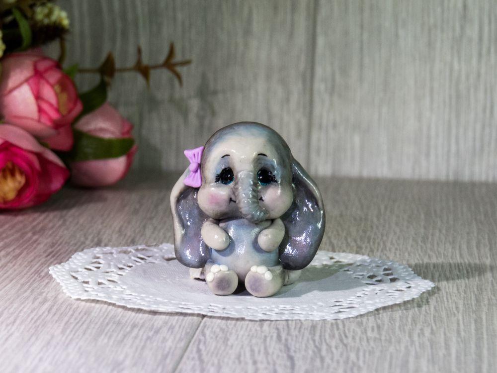 брошь, брошь из полимерной, слоник, слон, слонёнок из полимерной, брошь для девочки, детская брошь, купить брошь, новинка
