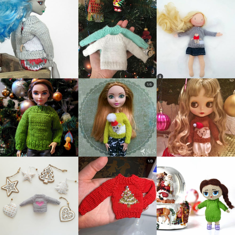 свитер на игрушку, одежда на амигуруми, вязаный свитер спицами на кукл, бесшовный свитер спицами на иг, вязаная одежда тильда, видео курс по вязанию, одежда блайз мастер-класс, кофточка спицами на куклу, кардиган спицами на игрушку, описание вязания свитер на бла