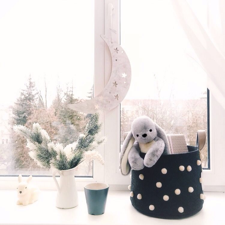 черная пятница 2017, распродажи, декор детской, текстильная корзина