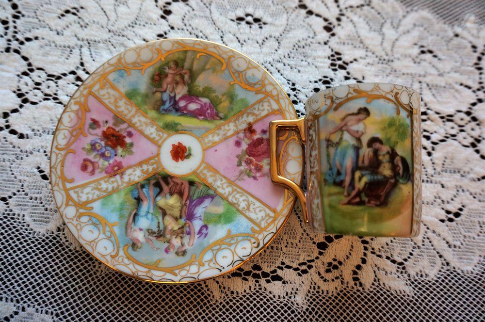 антикварный, старинная посуда, антикварная посуда, роспись