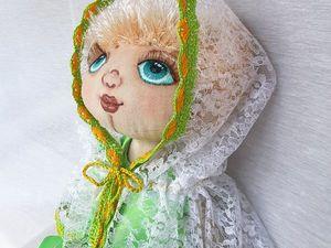 Капор для куклы Аси. Ярмарка Мастеров - ручная работа, handmade.