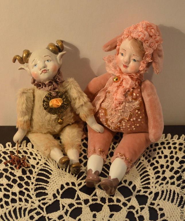 кукла тедди-долл, куклы м акулиничевой, златорог кукла, подвижная кукла, кукла под елку, идеи и мастер-классы