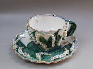 Чайная пара с ландышами в наличии! | Ярмарка Мастеров - ручная работа, handmade