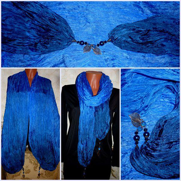 палантин, шёлковый шарф, купить недорого, шарфик, шибори