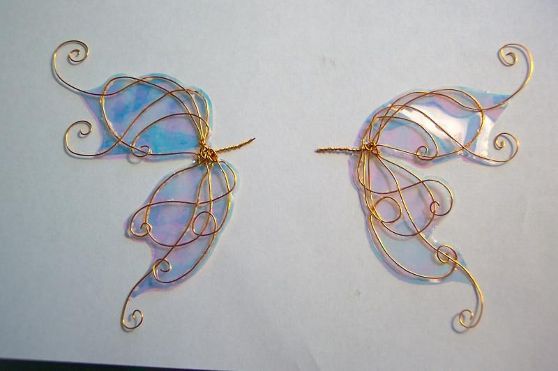 Крылья бабочки из проволоки как сделать