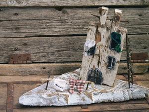 Самобытность. Домик на дощечке.. Ярмарка Мастеров - ручная работа, handmade.