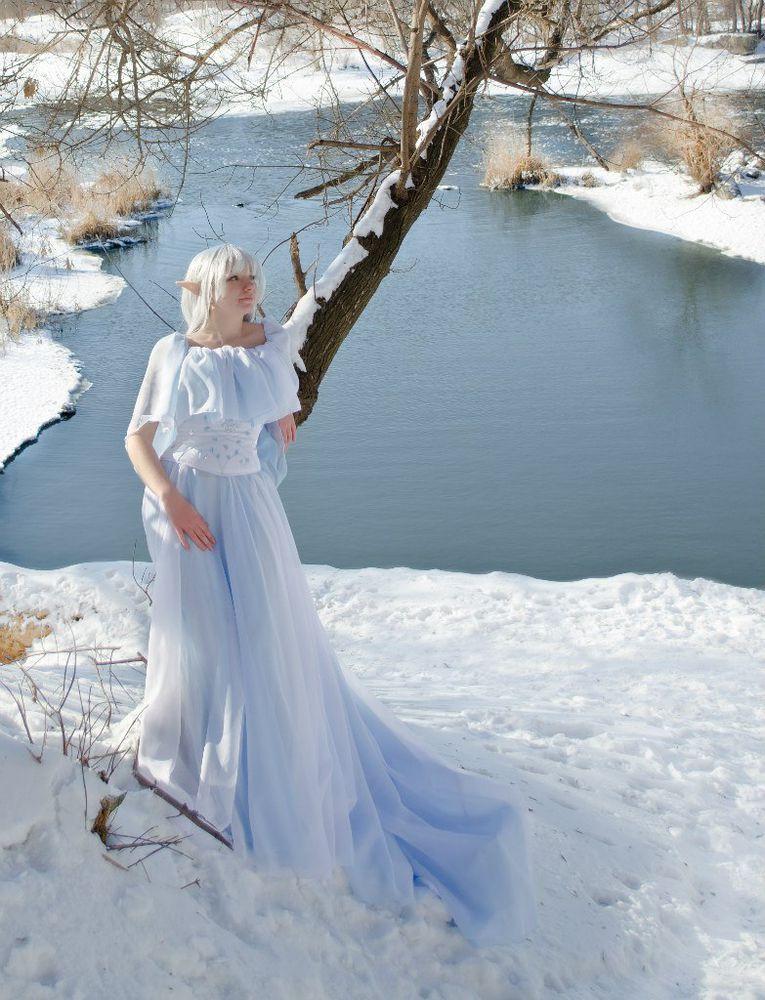 фотосессия, шифоновое платье
