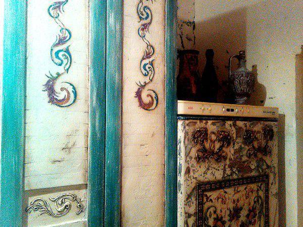 Видео мастер-класс: декорируем холодильник в технике декупаж и преображаем старый шкаф | Ярмарка Мастеров - ручная работа, handmade