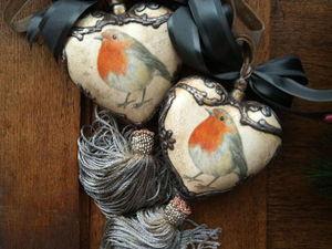 Керамическое Сердце с Объемным декором и кистью. | Ярмарка Мастеров - ручная работа, handmade