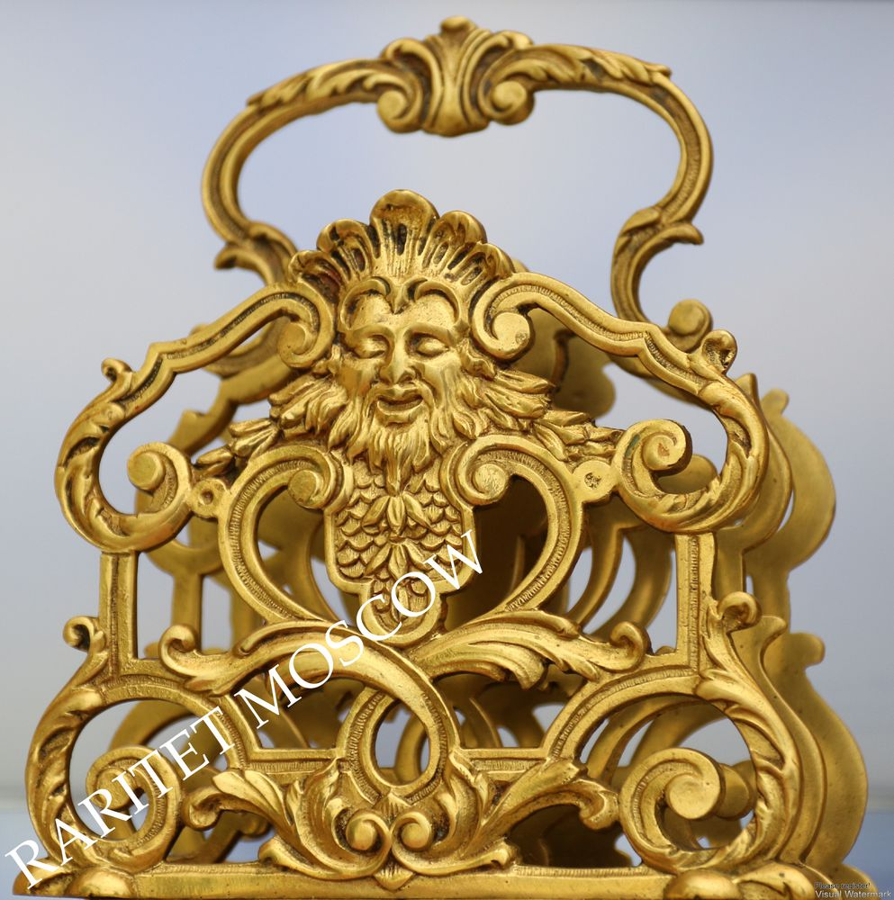 бронзовая салфетница