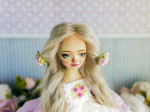 Каролин авторская кукла, интерьерная коллекционная кукла, подарок. Ярмарка Мастеров - ручная работа, handmade.