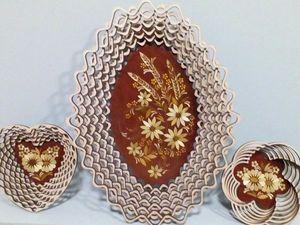 Сухарница инкрустированная соломкой. Ярмарка Мастеров - ручная работа, handmade.