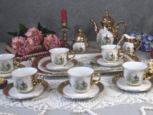 Кофейный позолоченный фарфоровый сервиз  Bavaria. Ярмарка Мастеров - ручная работа, handmade.