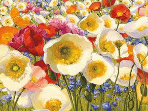 Цветы и солнце в живописи Shirley Novak. Ярмарка Мастеров - ручная работа, handmade.