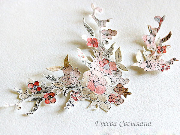 Делаем своими руками элемент декора открытки: распечатка и раскрашивание цветочного узора   Ярмарка Мастеров - ручная работа, handmade