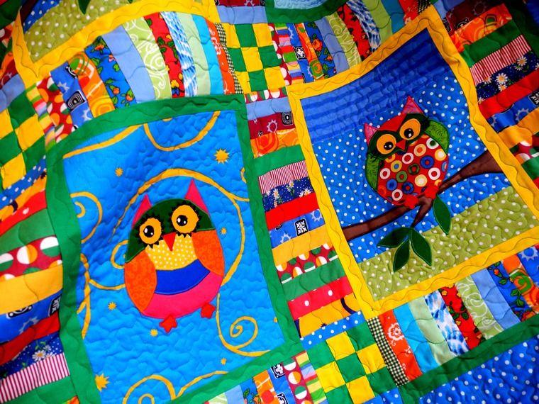 одеяло пэчворк, плед пэчворк детский, лоскутное покрывало