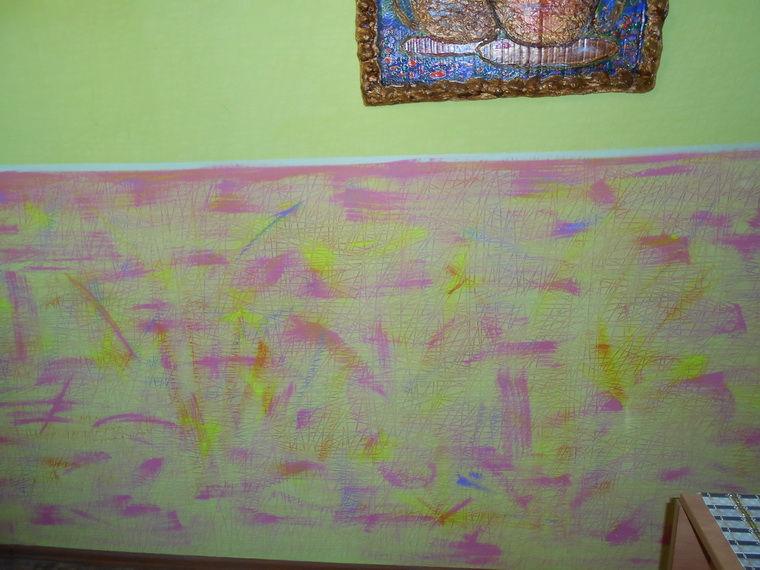 покраска стен, любимая кухня