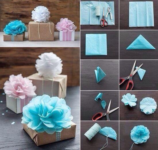 Украшаем подарочные коробки своими руками