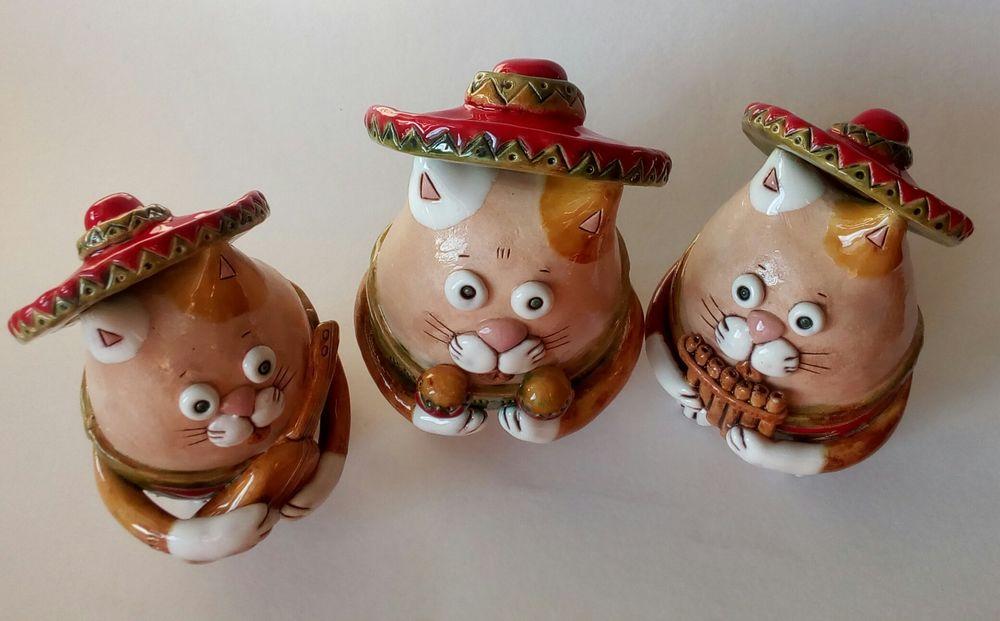 фигурка кота керамическая
