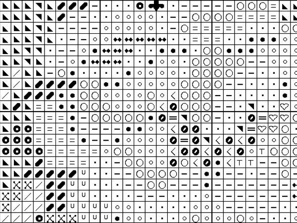 схемы, схема вышивки крестом