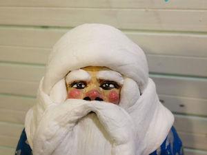 Реставрация советского артельного Деда Мороза. Вата + папье маше. Ярмарка Мастеров - ручная работа, handmade.