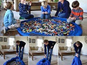 Коврик-мешок для игрушек. Ярмарка Мастеров - ручная работа, handmade.