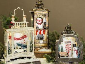 Новогодняя миниатюра в фонаре. Ярмарка Мастеров - ручная работа, handmade.