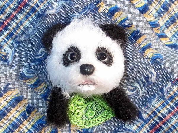 Новый МК Брошь из кармашкаю Панда | Ярмарка Мастеров - ручная работа, handmade
