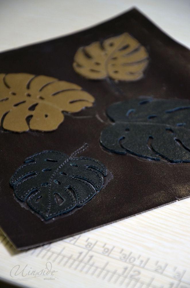 кошелек из кожи, зелень, кошелек, пошив на заказ