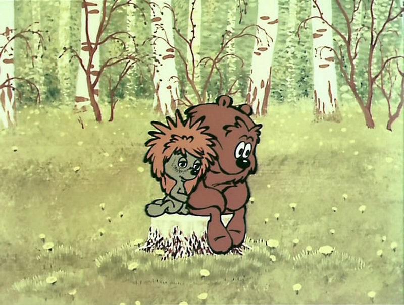 Картинки медвежонок и ежик, как сделать открытку