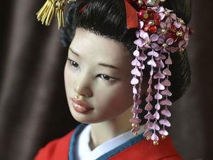 Японская девушка с зонтиком. Ярмарка Мастеров - ручная работа, handmade.