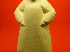 Видео мастер-класс: процесс изготовления деревянной фигурки внучки из сказки «Репка». Ярмарка Мастеров - ручная работа, handmade.