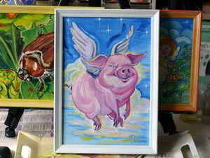 """Больше фото """"Летающей хрюнки"""". Ярмарка Мастеров - ручная работа, handmade."""