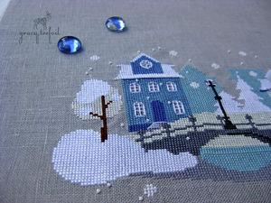 Мой зимний город   Ярмарка Мастеров - ручная работа, handmade