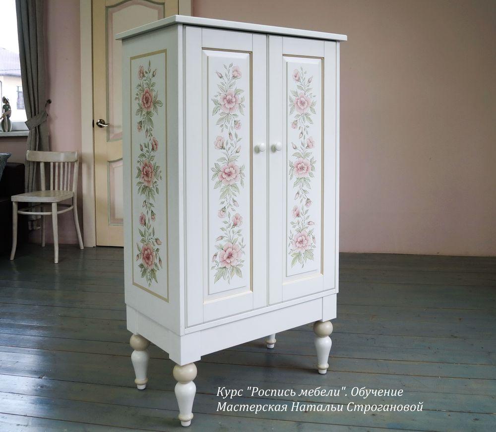 роспись мебели, обучение декору