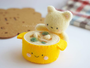 Hangs Like a Pear, Stomach Can't Bear: Cute Cooking by Mewfelt. Livemaster - handmade