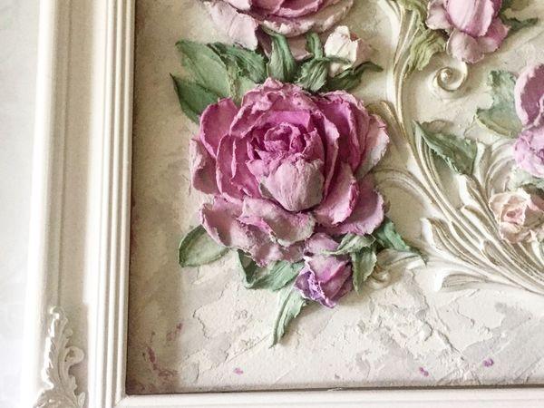 МК скульптурная живопись Роза   Ярмарка Мастеров - ручная работа, handmade