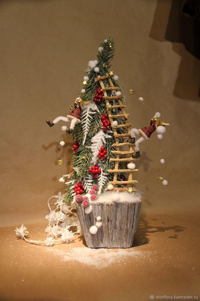новый год, новогодние подарки, интерьерная композиция