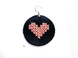 Создаем серьги с вышивкой крестиком. Ярмарка Мастеров - ручная работа, handmade.