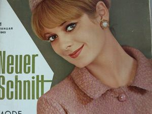 Neuer Schnitt — старый немецкий журнал мод 1/1965. Ярмарка Мастеров - ручная работа, handmade.