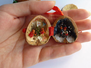 Новые орешки СО СТИХАМИ - Семейный Новый год, лисы и мишки. Ярмарка Мастеров - ручная работа, handmade.