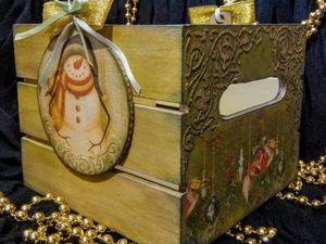Корзинка для подарков | Ярмарка Мастеров - ручная работа, handmade
