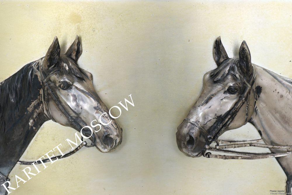 Картина панно конь лошадь серебрение Германия 7, фото № 15