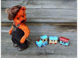 Мастерим паровозик для мишутки. Ярмарка Мастеров - ручная работа, handmade.