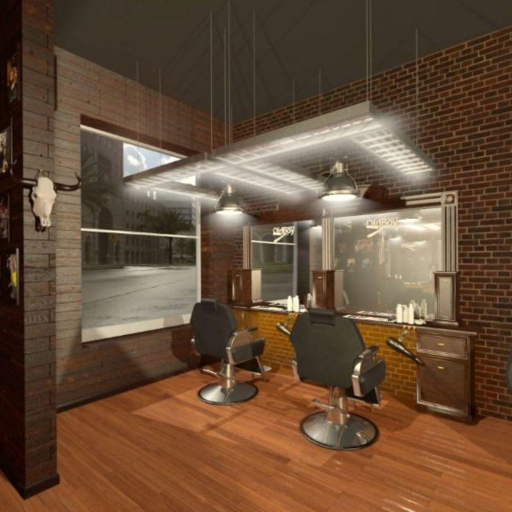 barbershop, отделка в стиле лофт, barbershop под ключ, стильный барбершоп, барбершоп