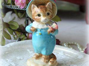 Дополнительные фотографии статуэтки Beatrix Potter — котенок Том. Ярмарка Мастеров - ручная работа, handmade.