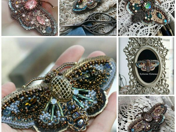 Брошь бабочка | Ярмарка Мастеров - ручная работа, handmade