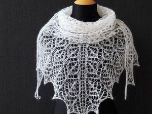 Новая инструкция по вязанию шали