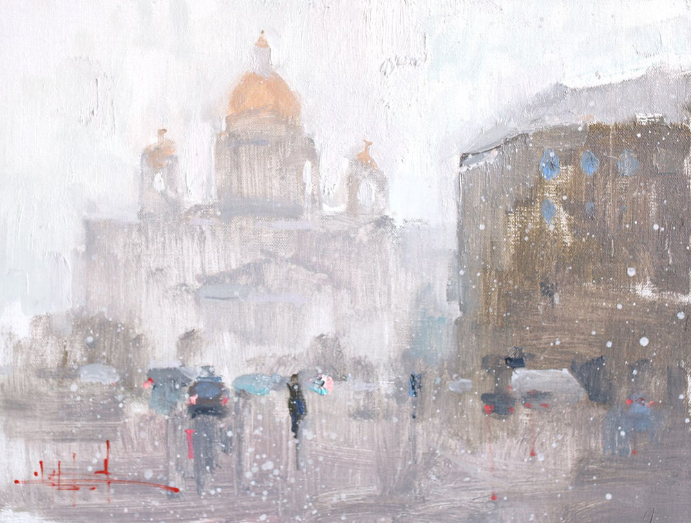 Konstantin Sukhopluev: Artist Painting Rain, фото № 1