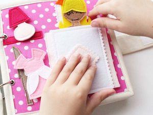Развивающая книга-домик принцессы.. Ярмарка Мастеров - ручная работа, handmade.